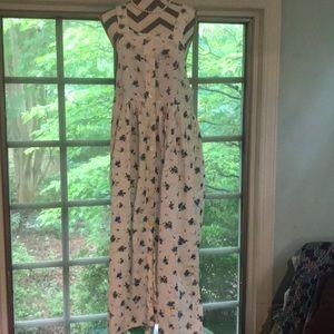 Vintage White Stag Maxi Dress